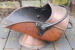 Victorian Copper Coal Scuttle